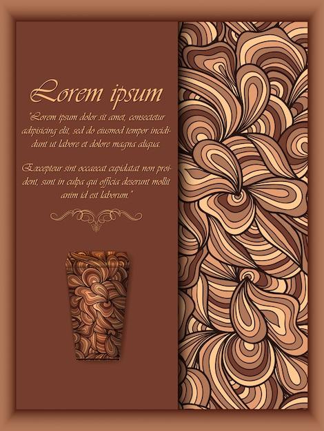 Fundo de café com elementos padrão floral Vetor grátis