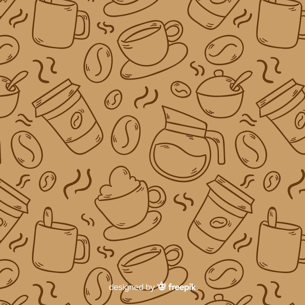 Fundo de café incolor Vetor grátis