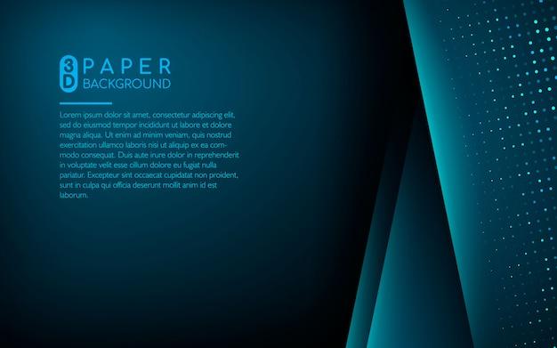 Fundo de camada de sobreposição azul com brilhos Vetor Premium