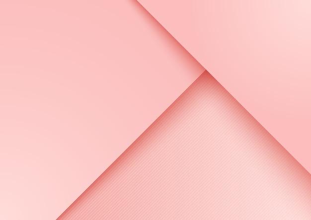 Fundo de camada sobreposta de papel rosa Vetor Premium