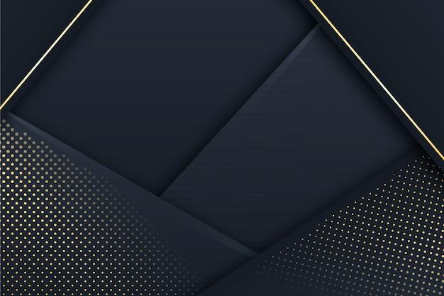 Fundo de camadas de papel escuro com detalhes dourados Vetor grátis