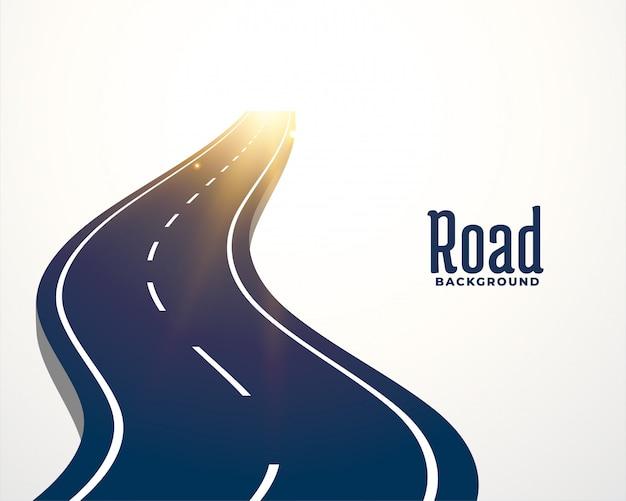 Fundo de caminho de curva de estrada sinuosa Vetor grátis