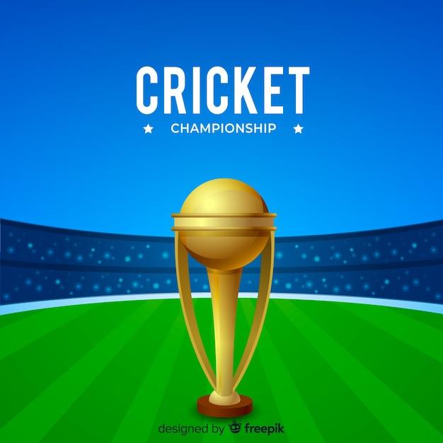 Fundo de campeonato de críquete Vetor grátis