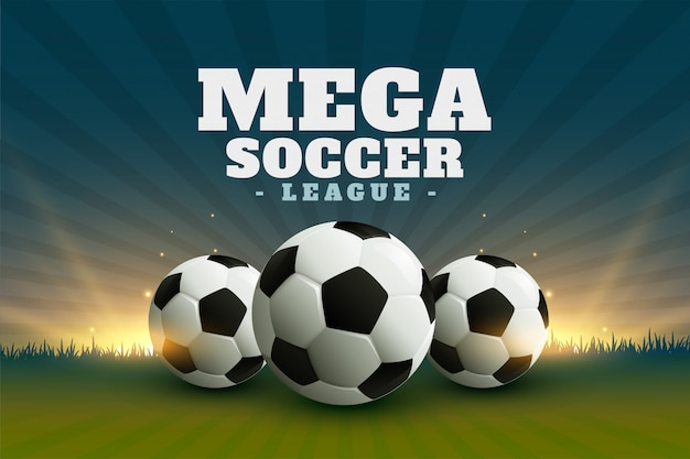 Fundo de campeonato de futebol ou futebol Vetor grátis