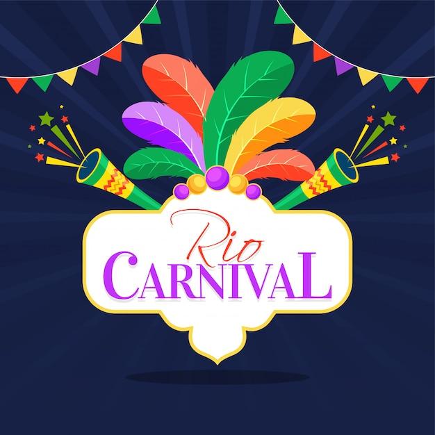 Fundo de carnaval brasileiro. Vetor Premium
