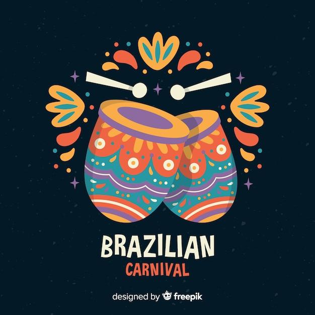 Fundo de carnaval brasileiro Vetor Premium