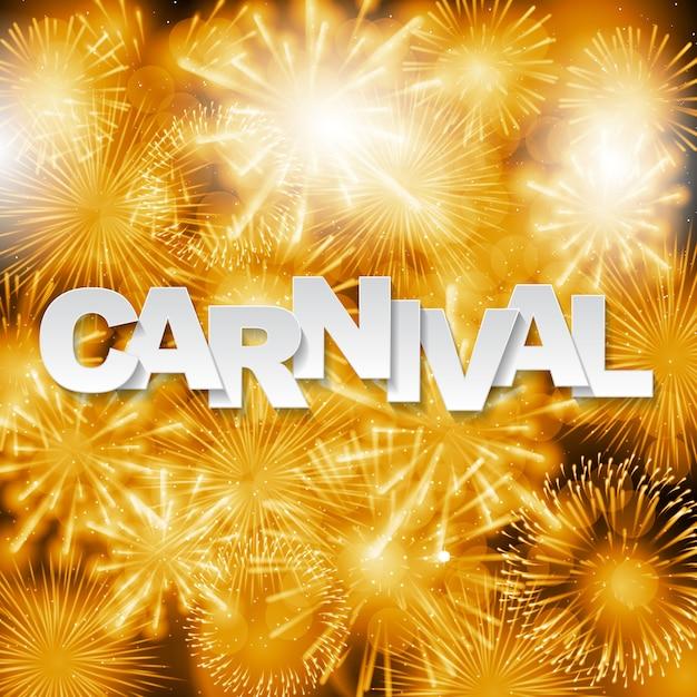 Fundo de carnaval com fogos de artifício Vetor Premium
