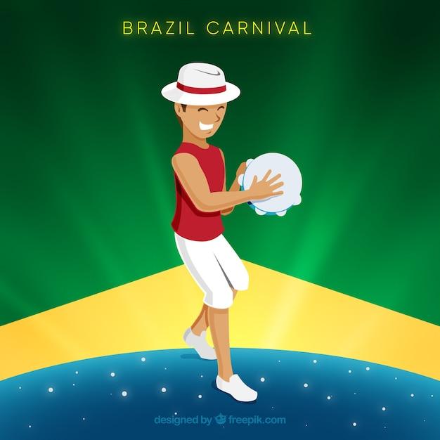 Fundo de carnaval com homem Vetor grátis
