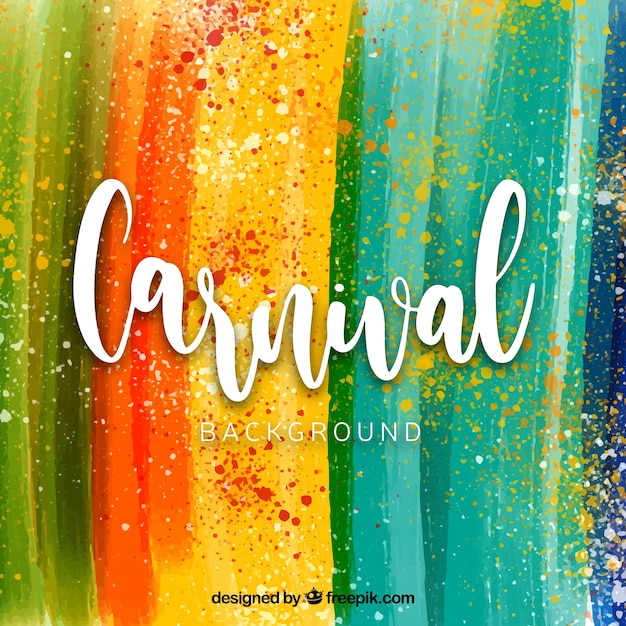 Fundo de carnaval de aquarela Vetor grátis