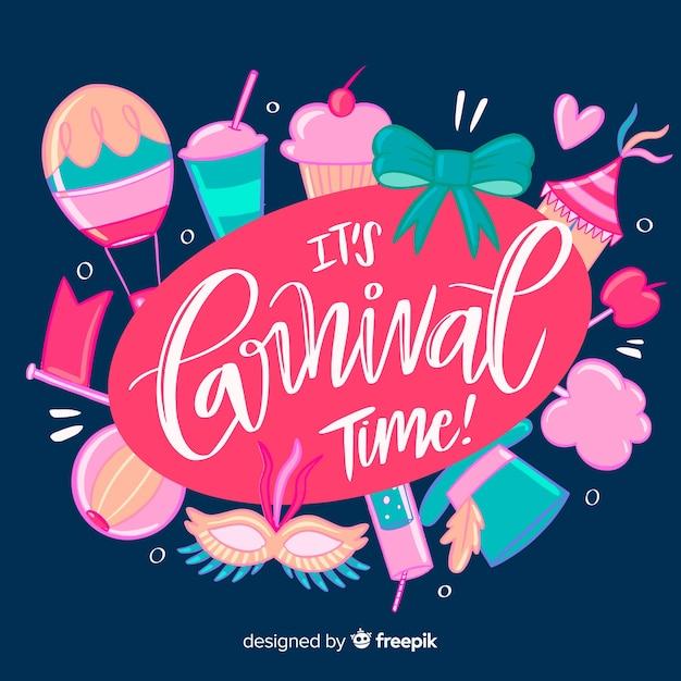 Fundo de carnaval de mão desenhada Vetor grátis