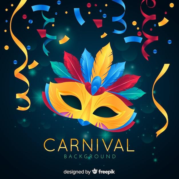 Fundo de carnaval realista Vetor grátis