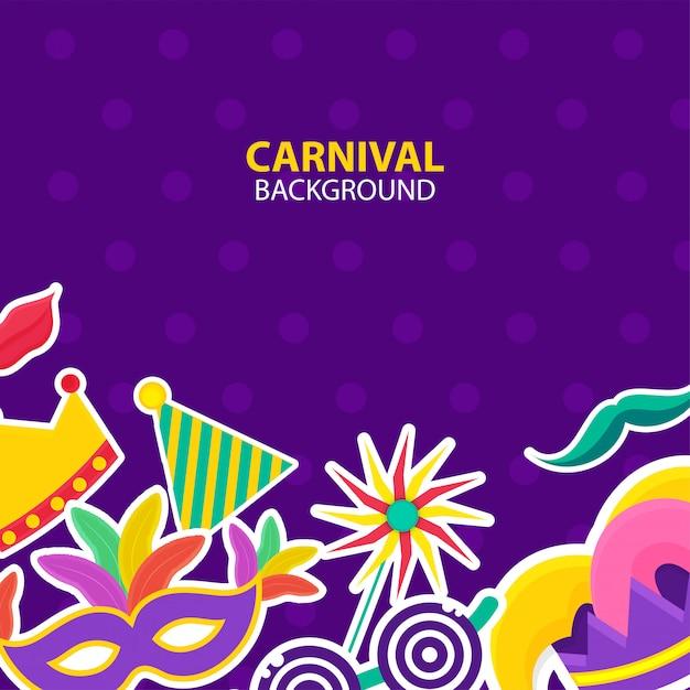 Fundo de carnaval Vetor Premium