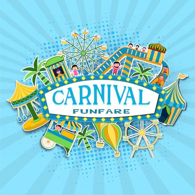 Fundo de carnaval. Vetor Premium