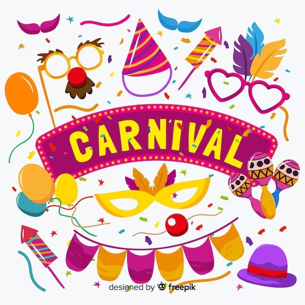 Fundo de carnaval Vetor grátis