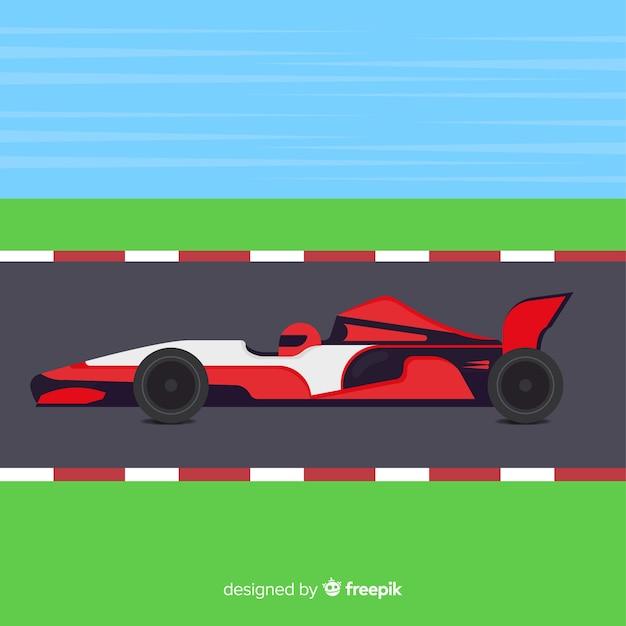 Fundo de carros de corrida de fórmula 1 Vetor grátis
