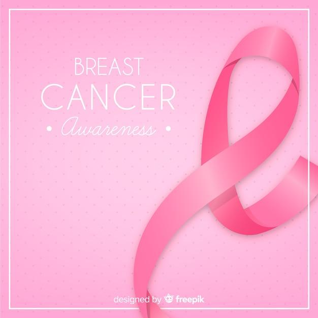 Fundo de cartaz do mês de conscientização de câncer de mama Vetor grátis