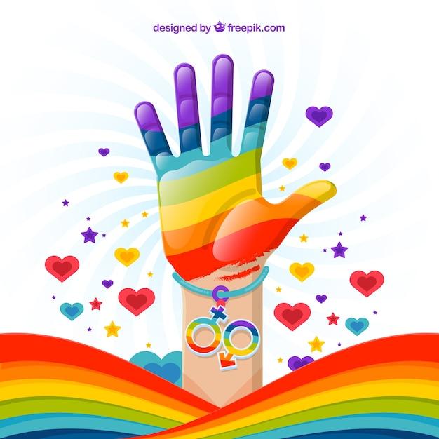 Fundo de celebração do dia do orgulho Vetor grátis
