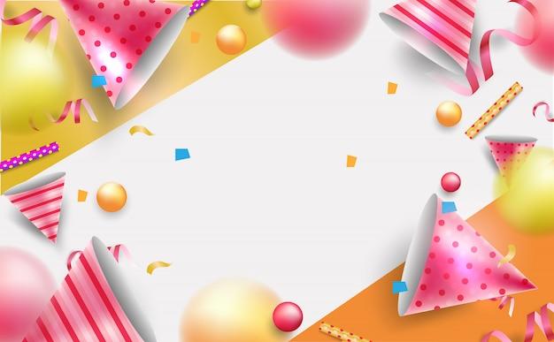 Fundo de celebração para cartão, cartaz, plano de fundo ou banner. Vetor Premium