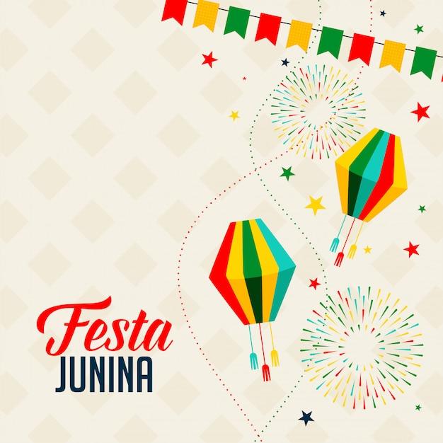 Fundo de celebração para festa junina feriado festival Vetor grátis