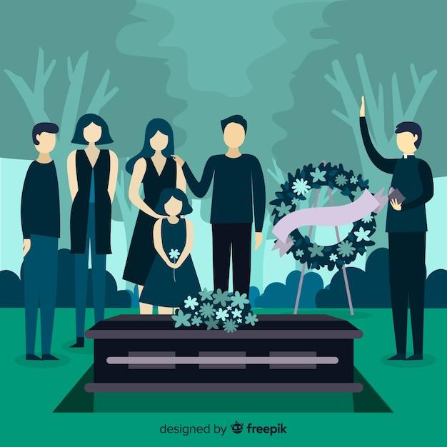 Fundo de cerimônia fúnebre Vetor grátis