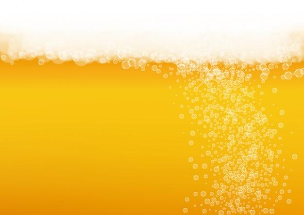 Fundo de cerveja splash Vetor Premium