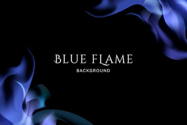Fundo de chama azul Vetor grátis