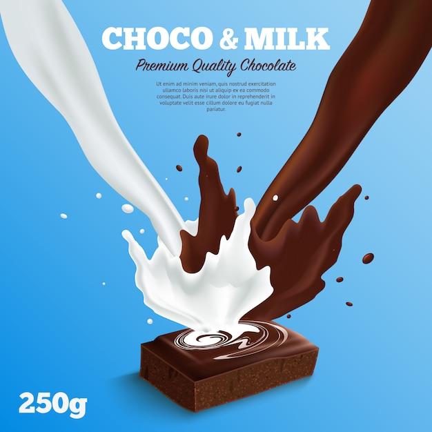 Fundo de chocolate ao leite Vetor grátis