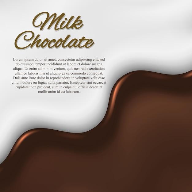 Fundo de chocolate líquido Vetor Premium