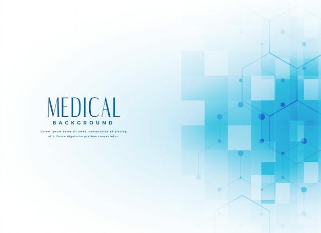 Fundo de ciência médica na cor azul Vetor grátis