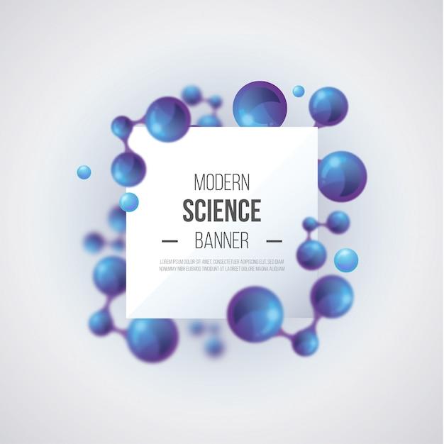 Fundo de ciência moderna Vetor grátis