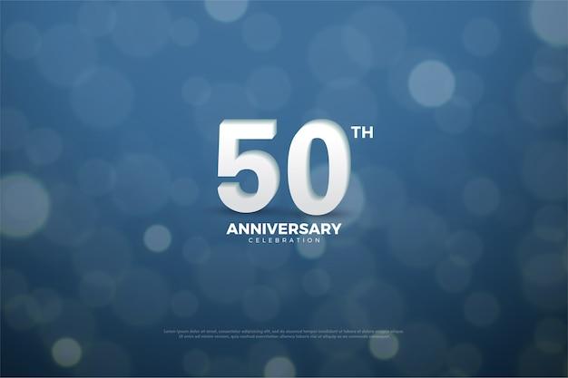 Fundo de cinquenta anos com efeito de respingo de água Vetor Premium