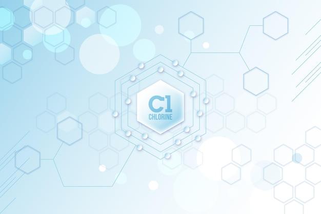 Fundo de cloro com formas geométricas Vetor Premium