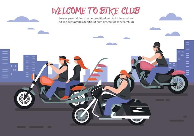 Fundo de clube de motociclista Vetor grátis