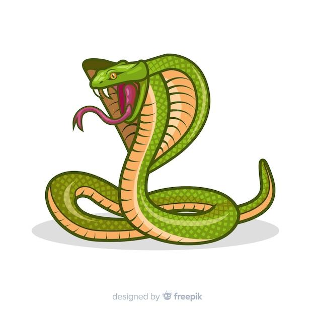 Fundo de cobra dos desenhos animados Vetor grátis