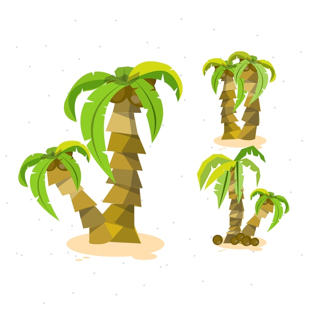 Fundo de coco de férias Vetor Premium