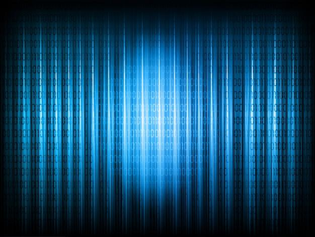Fundo de código binário Vetor grátis