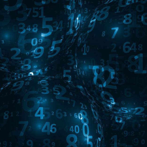 Fundo de código digital Vetor Premium
