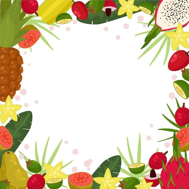 Fundo de comida saudável com frutas e legumes Vetor grátis