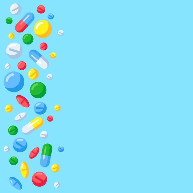 Fundo de comprimidos farmacêuticos Vetor Premium