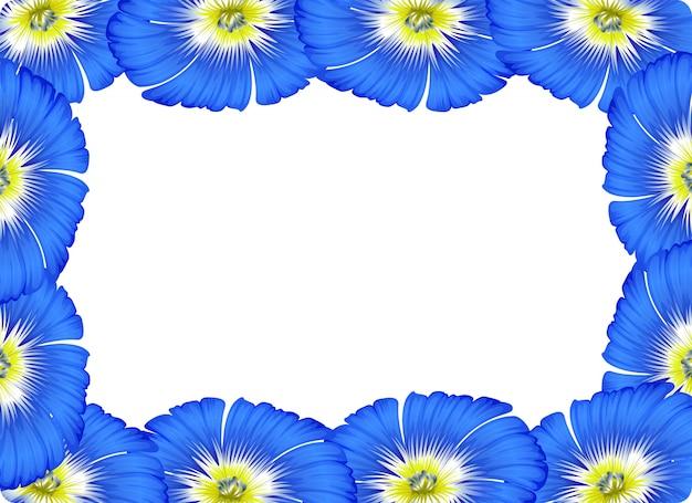 Fundo de conceito de cartão de borda de flor Vetor grátis