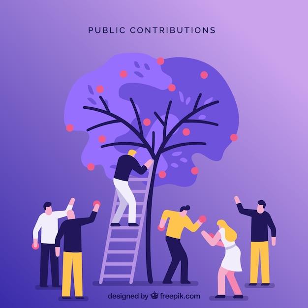 Fundo de conceito de contribuições públicas Vetor grátis