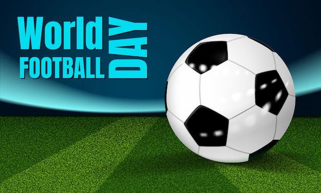 Fundo de conceito de dia de futebol Vetor Premium