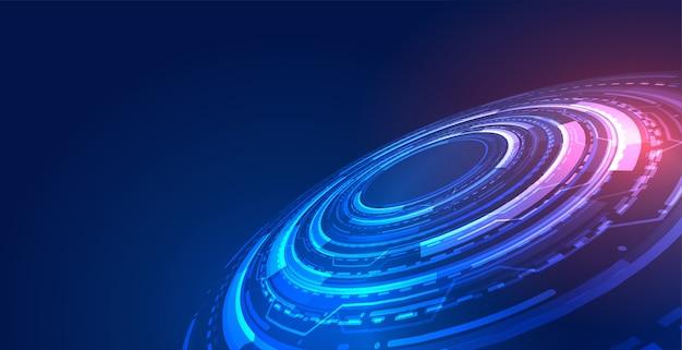 Fundo de conceito de tecnologia futurista azul com diagrama digital Vetor grátis