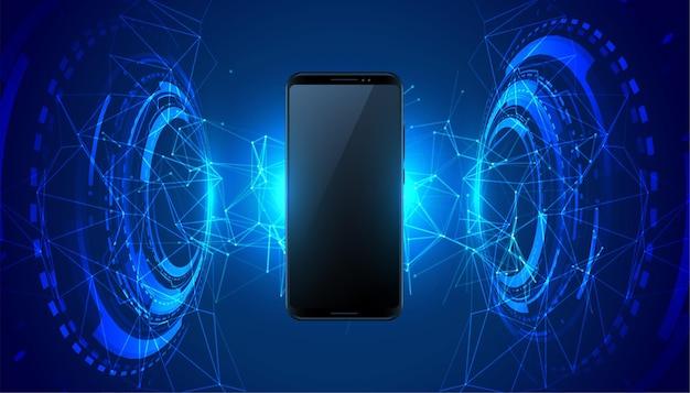 Fundo de conceito de tecnologia futurista móvel Vetor grátis