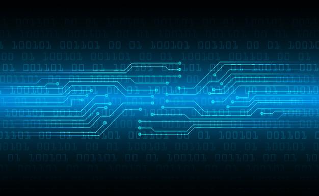 Fundo de conceito futuro tecnologia azul cyber circuito Vetor Premium