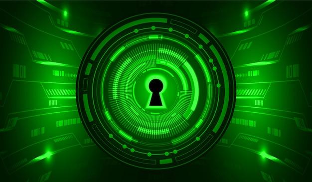 Fundo de conceito futuro tecnologia verde cyber circuito Vetor Premium