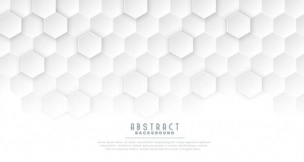 Fundo de conceito médico hexagonal branco limpo Vetor grátis