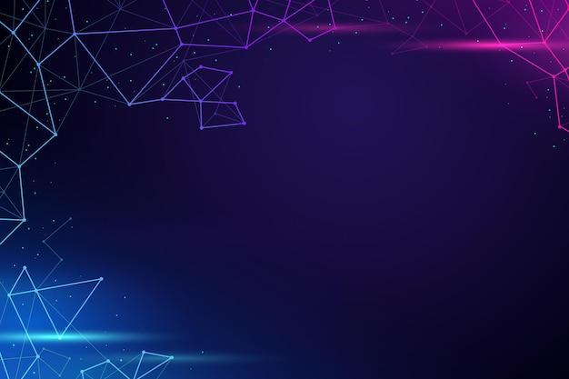 Fundo de conexão de rede de estilo gradiente Vetor grátis