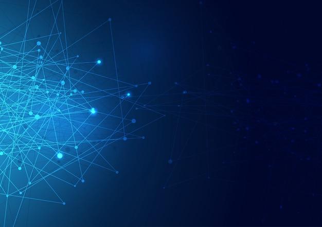 Fundo de conexões de rede abstrata Vetor grátis