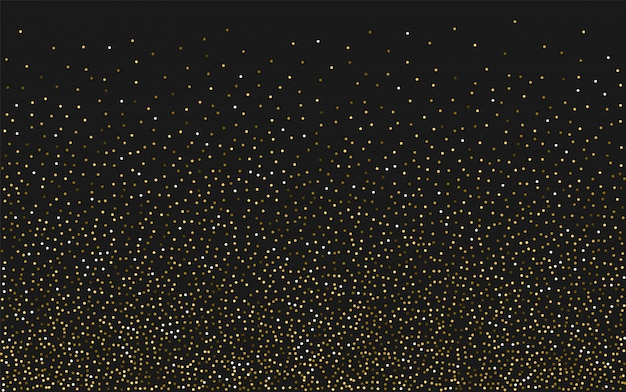 Fundo de confetes de luz dourada Vetor Premium